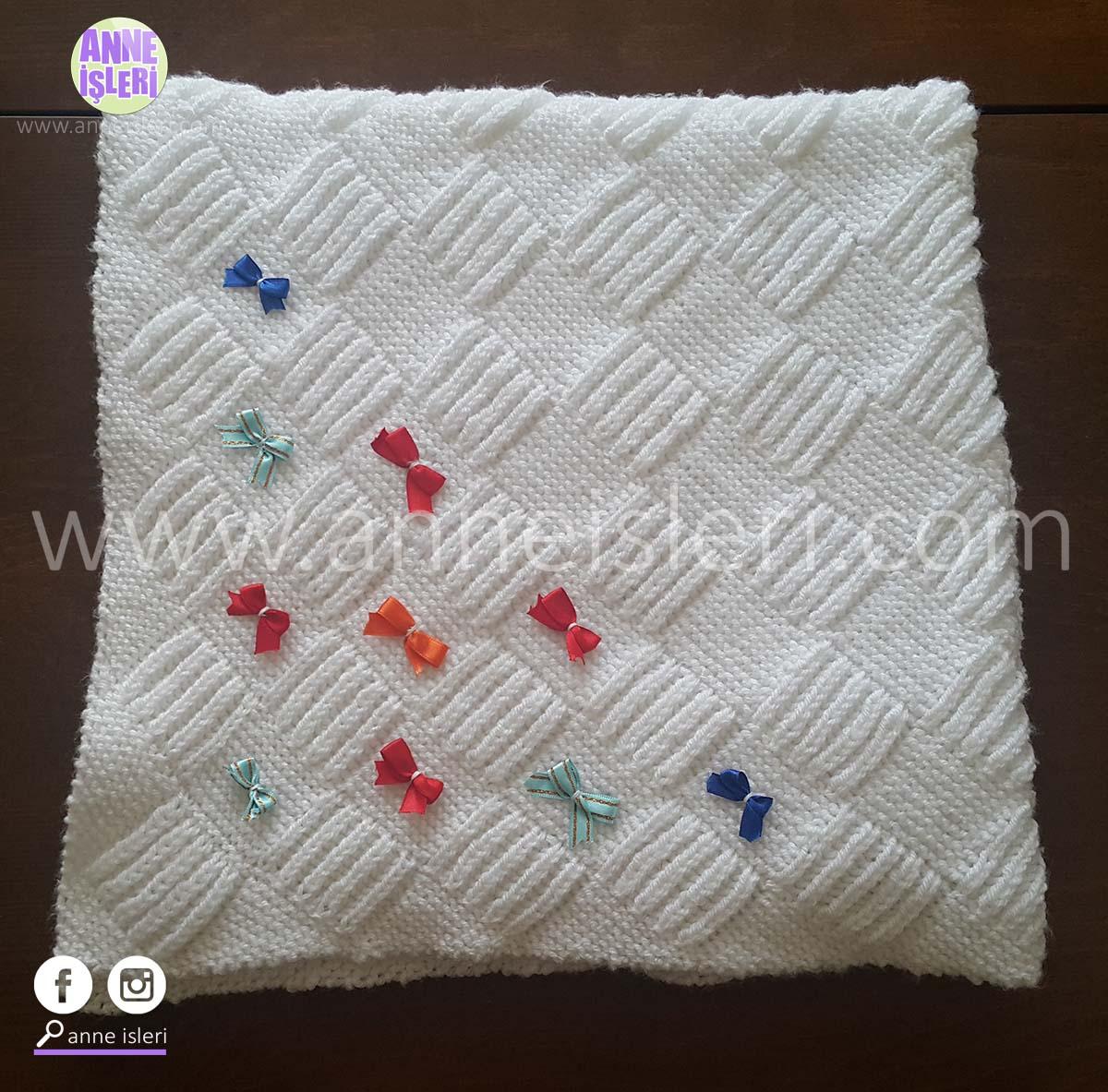 Şiş İle Kolay Bebek Battaniyesi Yapımı