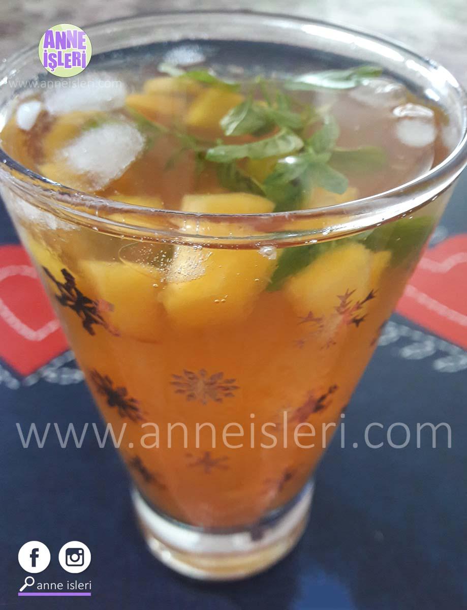 şeftali icetea soğuk çay tarifi
