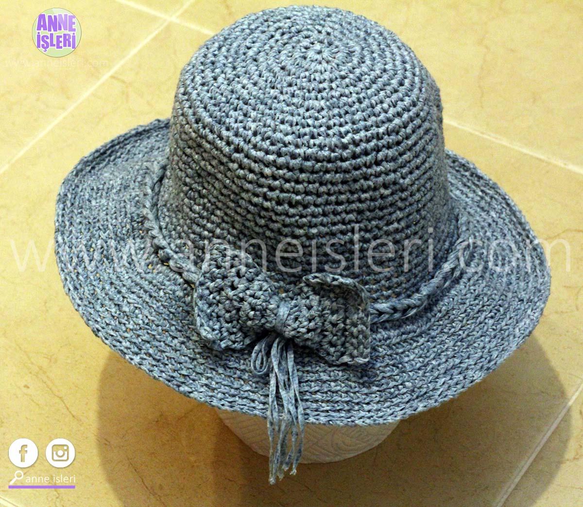 örgü şapka yapılışı 1