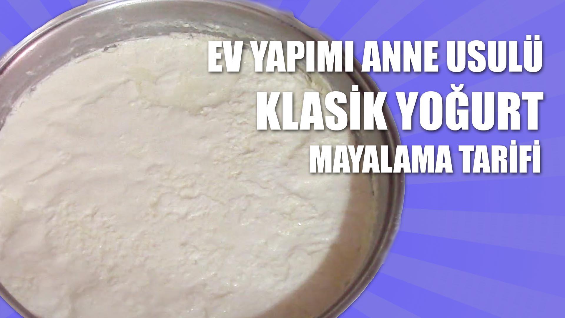 Yoğurt Nasıl Mayalanır Videosu